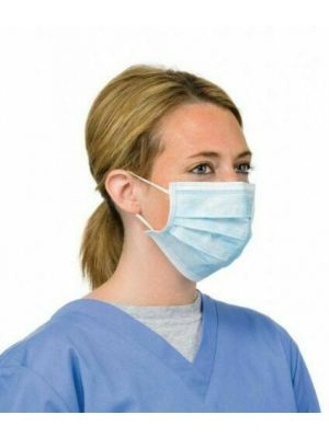 BLUE 3 PLY SURGICAL MASK TYPE II R PK OF 10