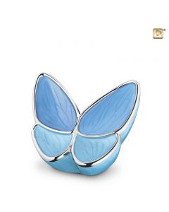 BF 002 S Brass small urn Butterfly